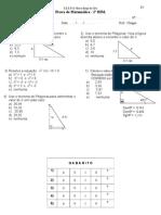 Prova de Matematica 2BIM Com Gabarito 2013