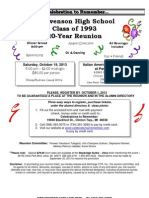 Stevenson Class of 1993 Reunion Invite PDF Version