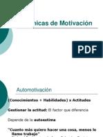 tecnicas de motivación