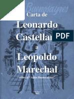 """Carta de Leonardo Castellani a Leopoldo Marechal - Sobre """"Adán Buenosayres"""""""