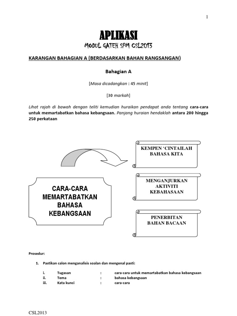 Langkah Memartabatkan Bahasa Melayu Stpm