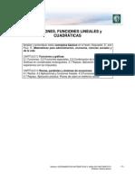 Funciones Lineales y Cuadraticas