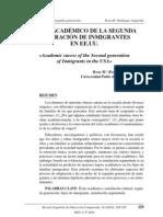 ÉXITO ACADÉMICO DE LA SEGUNDA GENERACIÓN DE INMIGRANTES EN EE.UU.
