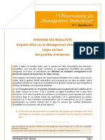 Enquête 2012 sur le management immobilier des sièges sociaux des grandes entreprises nov2012 - http://www.metrecarre.ma