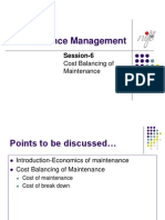 Session-6 Cost Balancing of Maintenance