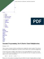 Dynamic Programming _ Set 8 (Matrix Chain Multiplication) - GeeksforGeeks _ GeeksforGeeks1