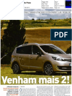 "RENAULT GRAND SCÉNIC 1.6 dCi 130 FRENTE AO PEUGEOT 5008 1.6 HDI NA ""AUTO FOCO"""