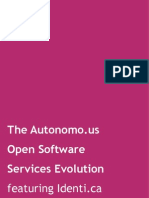 The Autonomo.us Open Software Services Evolution, featuring Identi.ca