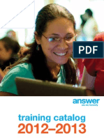 Answer Training Catalog 2012-2013