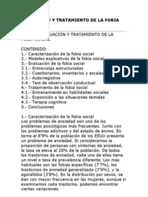 tratamiento de la fobia social pdf