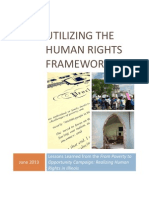 Utilizing the Human Rights Framework – Lessons Learned from the From Poverty to Opportunity Campaign
