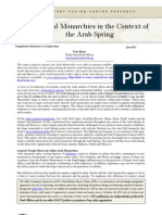 CFC Thematic Report - Regional Monarchies in the Context of the Arab Spring, 23 May 13