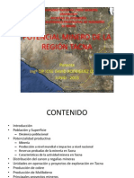 Potencial Minero de la Región Tacna