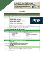 2nd ASEAN Rice Trade Forum 2013 Program