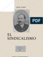 Sindicalismo, El - Jose Prat