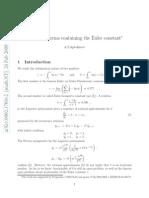 La Costante Di Eulero-Gompertz