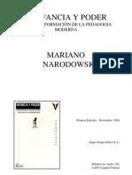 NARODOWSKI, Mariano. Infancia y Poder. Cap. 1