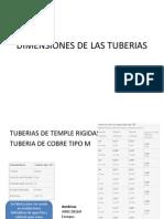 Dimensiones de Las Tuberias