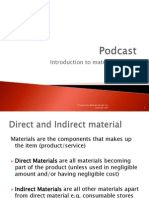 Introduction to Material Costing