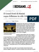 Il Grand Hotel Di Rimini Sogno Felliniano in Stile Liberty - Viaggi e Turismo - L'Eco Di Bergamo - Notizie Di Bergamo e Provincia