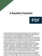 A república populista
