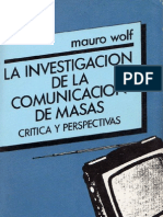 Wolf Mauro La Investigacion de La Comunicacion de Masas