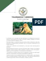 Plancha n.00971 - Armonia Tolerancia