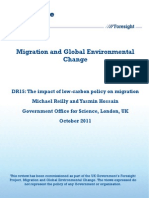 The Impact of Low Carbon Policy on Migration