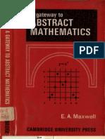 Maxwell AGatewayToAbstractMathematics