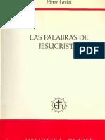 Grelot Pierre Las Palabras de Jesucristo