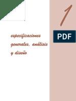 Especificaciones Generales, Análisis y Diseño