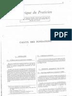 Rubrique Du Praticien - Calcul Des Fondations