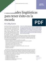 Habilidades Linguisticas Para Tener Exito en La Escuela