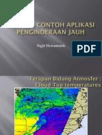 PJ DASAR - Contoh-Contoh Aplikasi Penginderaan Jauh