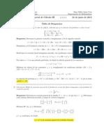 Corrección Segundo Parcial Cálculo III, 25 de junio de 2013