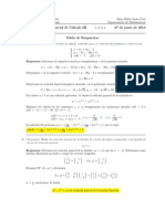 Corrección Segundo Parcial, Cálculo III, 27 de junio de 2013