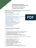 ÁREAS Y LINEAS DE INVESTIGACIÓN (2012)
