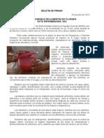 26/06/13 Germán Tenorio Vasconcelos Buen Manejo de Alimentos en Tu Hogar Evita Enfermedades, Sso