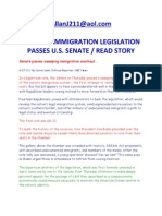 Historic Immigration Legislation Passes u.s. Senate Read Story