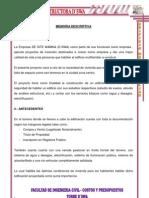 MEMORIA DESCRIPTIVA CONSTRUCION DE EDIFICIO MULTIFAMILIAR D´SWA - copia.docx