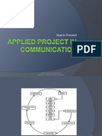 How to Proceed in Applied Project in Communication