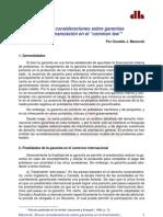 GarantíasFinanciaciónEnCommonLaw