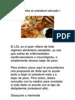 Dieta Contra El Colesterol Elevado I