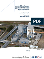 Cost assessment of fossil power plants equipped with CCS under typical scenarios - Alstom, June 2012