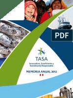 Memoria 2012 Tasa