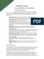 Resumen Administracion General Completo
