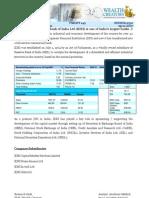 Investment Report_IDBI