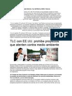 LO QUE DICE EL TLC ENTRE EL PERÚ Y EE