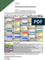 Schulungskalender Mai Bis September 2009