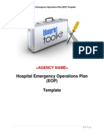 Hospital Emergency Operations Plan Template
